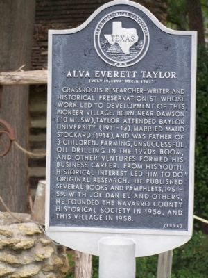 Alva Everett Taylor Marker image. Click for full size.