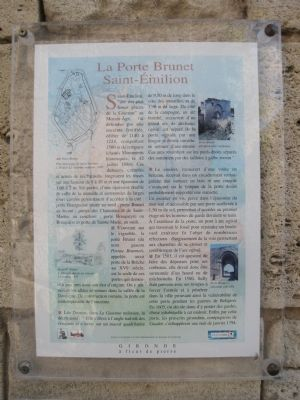La Porte Brunet Marker image. Click for full size.