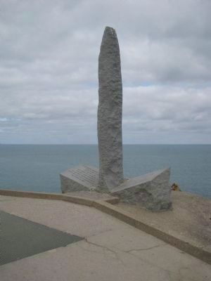Pointe du Hoc Marker image. Click for full size.
