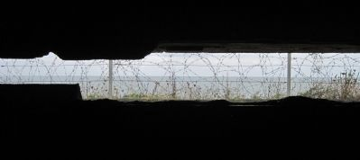 View of the English Channel from inside the Obsevation Bunker image. Click for full size.