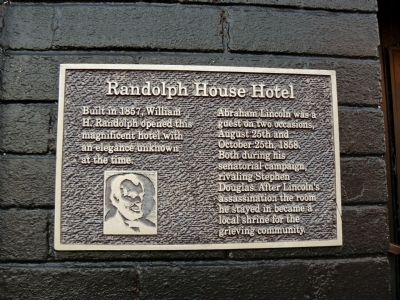 Randolph House Hotel Marker image. Click for full size.