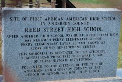 Site of First African American High School in Anderson County Monument image. Click for full size.