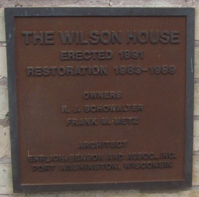 The Wilson House Marker image. Click for full size.