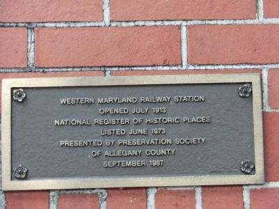 Western Maryland Railway Station Marker image. Click for full size.