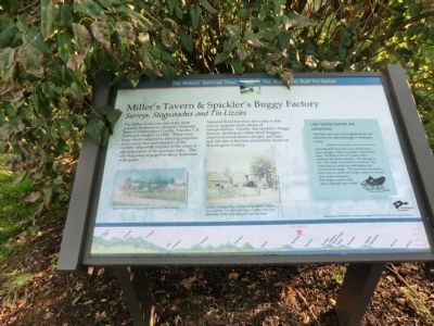 Miller's Tavern & Spickler's Buggy Factory Marker image. Click for full size.