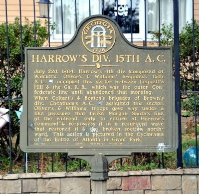 Harrow's Div., 15th A.C. Marker image. Click for full size.