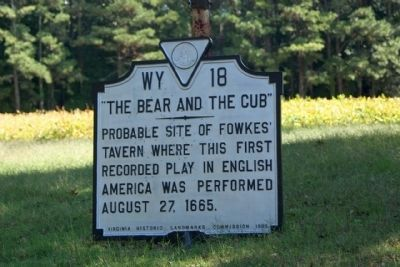 """The Bear and the Cub"" Marker, currently off its post image. Click for full size."