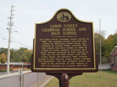 Lemon St. Grammar and High School Marker image. Click for full size.