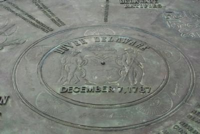 The Compass Rose Marker, center detail image. Click for full size.