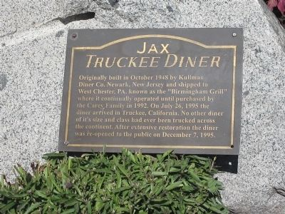 Jax Truckee Diner Marker image. Click for full size.