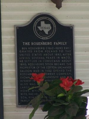 The Rosenberg Family Marker image. Click for full size.