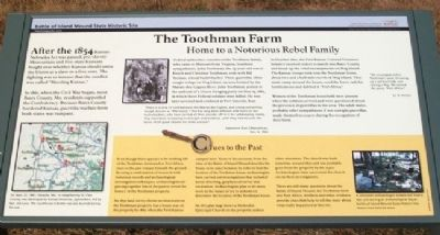 The Toothman Farm Marker image. Click for full size.