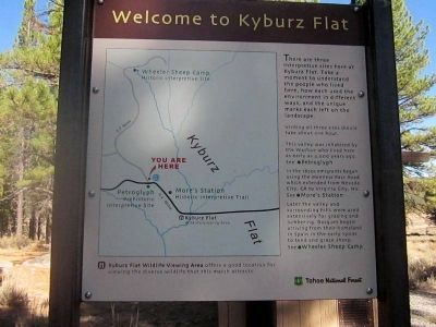 Welcome to Kyburz Flat Marker image. Click for full size.