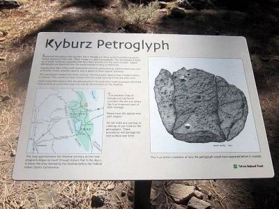 Kyburz Petroglyph (Interpretive Marker 1) image. Click for full size.