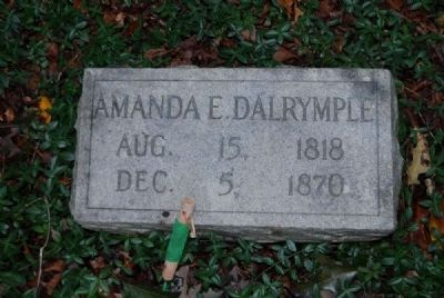 Amanda E. Dalrymple Tombstone<br>August 15, 1818 - December 5, 1870 image. Click for full size.