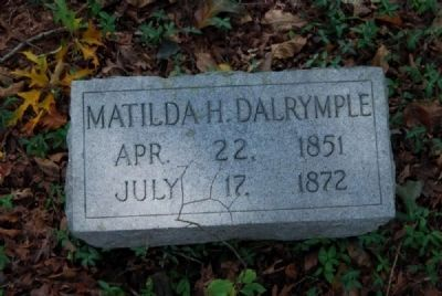 Matilda H. Dalrymple Tombstonw<br>April 22, 1851 - July 17, 1872 image. Click for full size.