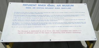 Patuxent River Naval Air Museum Marker image. Click for full size.