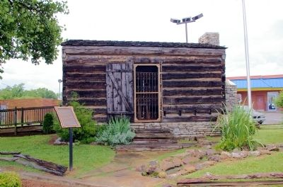 Neddy Jacobs Cabin and Marker image. Click for full size.