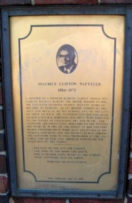 Maurice Clifton Naftzger Marker image. Click for full size.