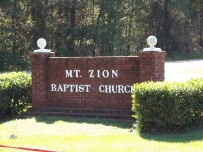 Mt. Zion Baptist Church Sign image. Click for full size.