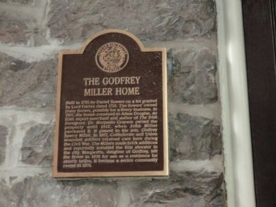 The Godfrey Miller Home Marker image. Click for full size.