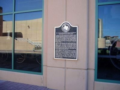 El Paso & Southwestern Railroad Locomotive Number One Marker image. Click for full size.