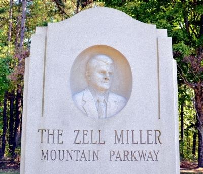 The Zell Miller Mountain Parkway Marker image. Click for full size.