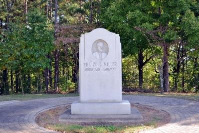 The Zell Miller Mountain Parkway Marker -- Front image. Click for full size.
