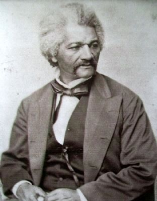 Frederick Douglass Image on The Battle of Island Mound: A Demonstration to the Nation Marker image. Click for full size.