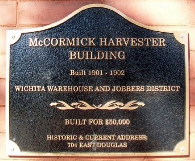 McCormick Harvester Building Marker image. Click for full size.