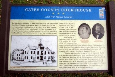 Gates County Courthouse CWT Marker image. Click for full size.