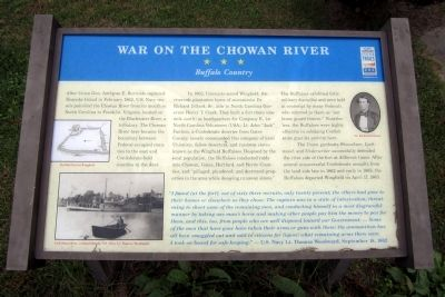 War on the Chowan River CWT Marker image. Click for full size.