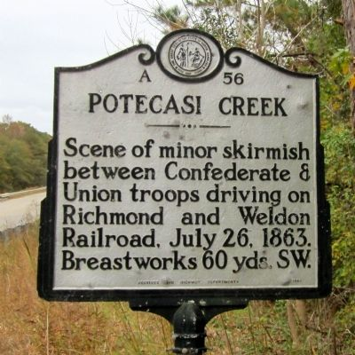 Potecasi Creek Marker image. Click for full size.