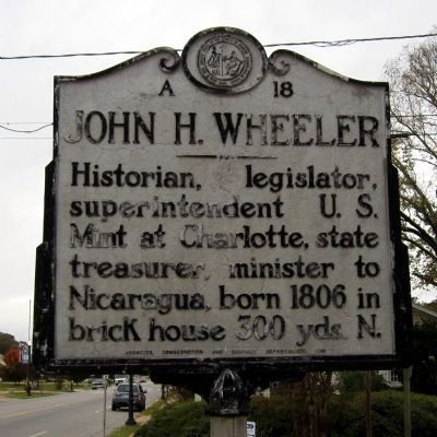 John H. Wheeler Marker image. Click for full size.