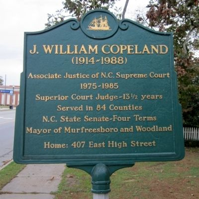 J. William Copeland Marker image. Click for full size.