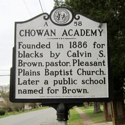 Chowan Academy Marker image. Click for full size.