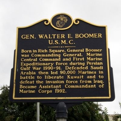 Gen. Walter E. Boomer Marker image. Click for full size.