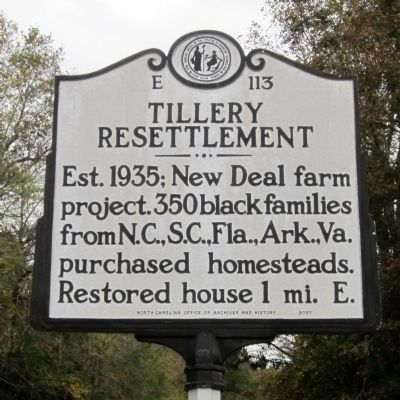 Tillery Resettlement Marker image. Click for full size.