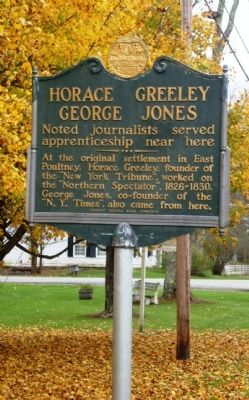 Horace Greeley - George Jones Marker image. Click for full size.