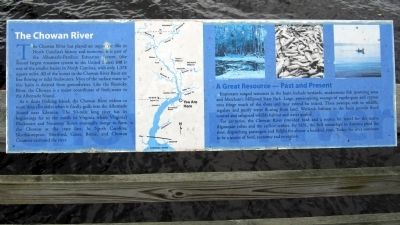 The Chowan River Marker image. Click for full size.