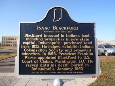 Isaac Blackford Marker, side two image. Click for full size.