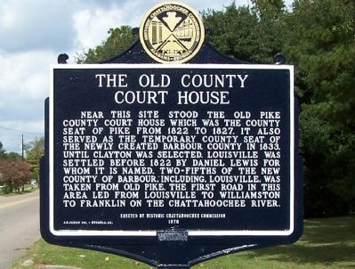 The Old County Court House Marker image. Click for full size.
