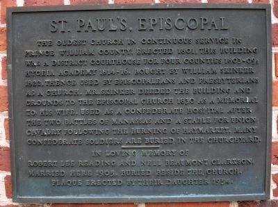 St. Paul's, Episcopal Marker image. Click for full size.