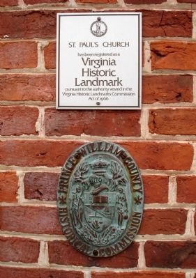 Plaques on the front of church image. Click for full size.