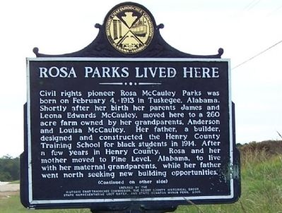 Rosa Parks Lived Here Marker image. Click for full size.