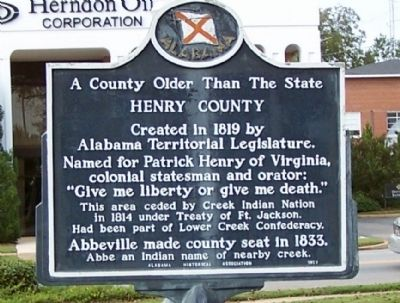 A County Older Than the State Marker image. Click for full size.