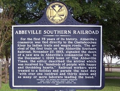 Abbeville Southern Railroad Marker image. Click for full size.