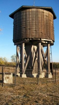 1885 Frisco Water Tower and Marker image. Click for full size.