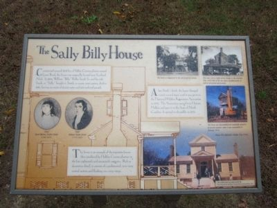 The Sally Billy House Marker image. Click for full size.