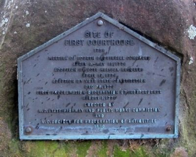 Site of First Courthouse Marker image. Click for full size.